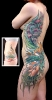 cover up tattoo Floral Full Side Woman's Add-on Tattoo