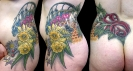 custom tattoos_New England Flower Hip