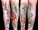 Custom Tattoos_Hourglass Battling Angels and Devils
