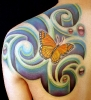 old tattoos_Polynesian Inspired Butterfly