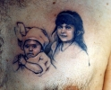 old tattoos_First Portrait of Franky's Little Girls
